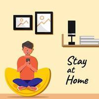 ficar em casa vetor