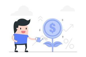 conceito de investimento e crescimento vetor