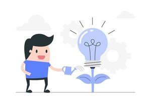 conceito de investimento de idéia criativa vetor