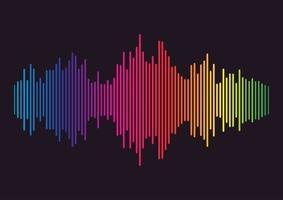 linha de onda sonora colorida vetor