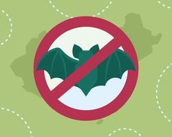 proibição de morcegos para impedir a transmissão de coronavírus vetor