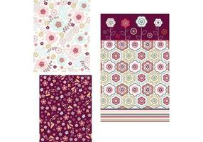 Papel de Parede Floral Tri - Pack Two vetor