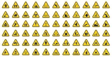 conjunto de perigo de aviso vetor