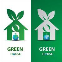 casa ecológica verde vetor