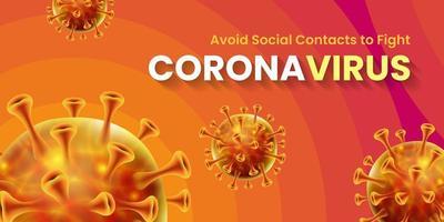 design de banner global de pandemia do vírus da coroa covid-19