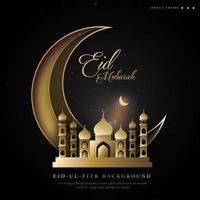 fundo real do ramadan eid ul fitr com tema da lua crescente vetor