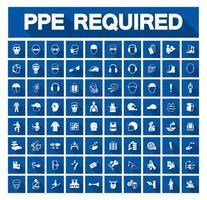 conjunto de ícones de equipamentos de proteção individual necessários vetor