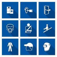 símbolo de equipamento de proteção individual necessário vetor