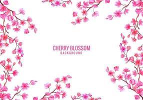 fundo de cartão de flor de cerejeira vetor