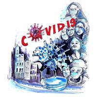 fundo de alerta do coronavirus 2019 covid 19 vetor
