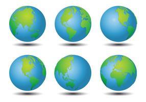 Vetores do mapa mundial