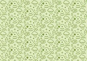 Fundo de padrão abstrato com formas verdes vetor