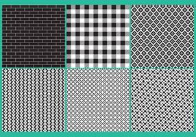 Padrões de blocos em preto e branco vetor