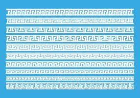 Vetor de padrão de chaves gregas