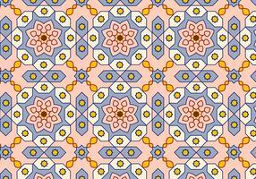 Vetor de fundo de padrão árabe