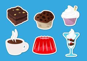Vector de ilustrações de sobremesas de brownie