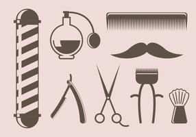Vetor de ferramenta de barbeiro vintage gratuito