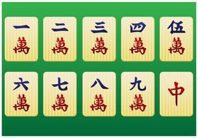 Mahjong pieces 1st pack - vector