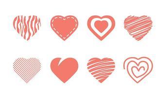 Coleção de ícones do coração vetor