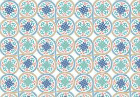 Círculo de vetor de fundo de padrão marroquino