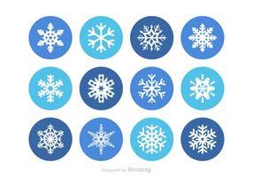 Conjunto livre de vetores de floco de neve