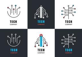 Símbolos livres do vetor da tecnologia