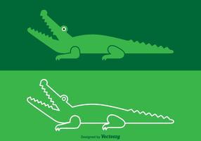 Logotipo livre de crocodilo de vetores