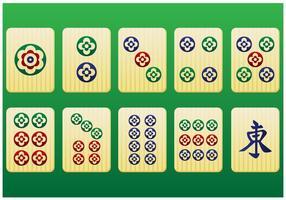 Pedaços mahjong 3º pacote - vetor