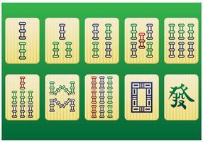 Pedaços mahjong 2º pacote - vetor