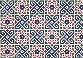Floral marroquino Pattern Background Vector