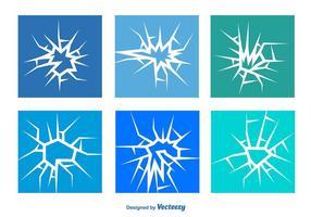 Conjunto de vetores de vidro rachado