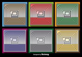 Conjunto de vetores de ícones RFID