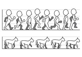 Vetor de ciclo de caminhada grátis