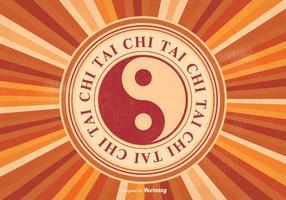 Ilustração retro do vetor do Tai Chi