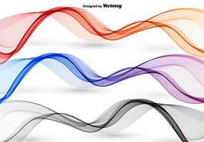 Ondas abstratas coloridas vetor