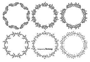 Conjunto de quadro de vetores de estilo desenhado à mão