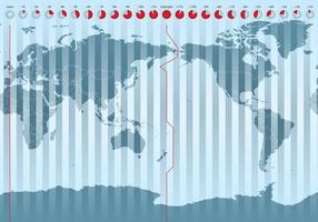 Zonas horárias mundiais vetor