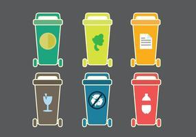 Ícone de vetor de classificação de lixo livre