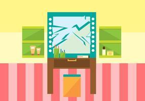 Ilustração espelhada livre do vetor do espelho