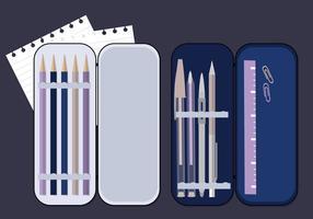 Ilustração da caixa do lápis do vetor