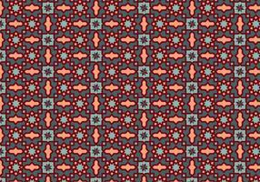 Vetor de padrão de mosaico de contorno