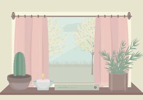 Ilustração da janela do vetor