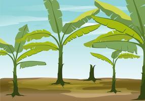 Fundo do vetor da árvore de banana