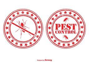 Conjunto de selo de controle de pragas vetor