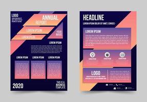 folheto de negócios gradiente com detalhes em ângulo