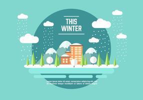 Vetor de ilustração de aventura de inverno