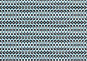 Vetor de padrão floral geométrico
