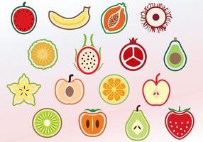 Vetores de frutas fatiadas