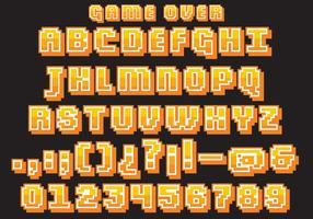 Vector de tipo de jogo de vídeo retro