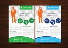 Business Vector Flyer Design Layout Template em tamanho A4